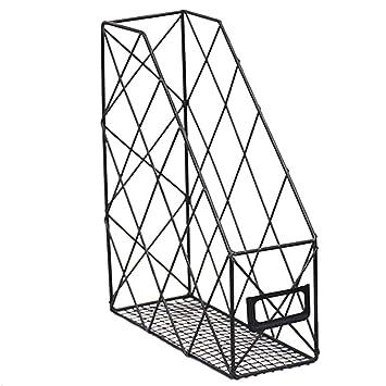 30 cm 16 LoKauf Revistero Archivador Revistero Vertical Revistero Metal Oficina Caja Organizador Documentos Desktop Organiser 24,5