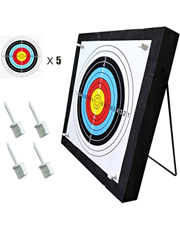 e7b17e84fe1 Junxing Archery Target 20x20x2.4 inch High Density Self Healing Foam Target  Layered Shooting Practice