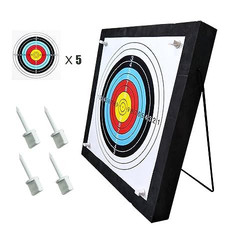 9e1a3caf082 Junxing Archery Target 20x20x2.4 inch High Density Self Healing Foam Target  Layered Shooting Practice  Amazon.co.uk  Sports   Outdoors