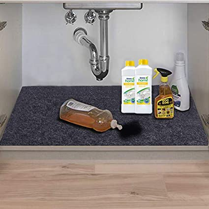 Amazon.com: Under The Sink Mat, Kitchen Tray Drip, Premium Cabinet on vanity cabinet tray, kitchen tilt out tray, pull out sink tray, under sink tray, plastic sink front tray, sink storage tray, sink base tray, euro hinges cabinet organizer tray, kitchen drawer tray,