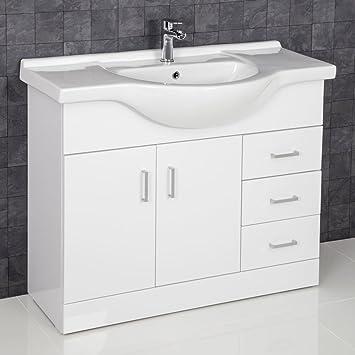 Fabulous Essence Waschkommode Waschkommode Waschbecken Hochglanz Weiß QV47
