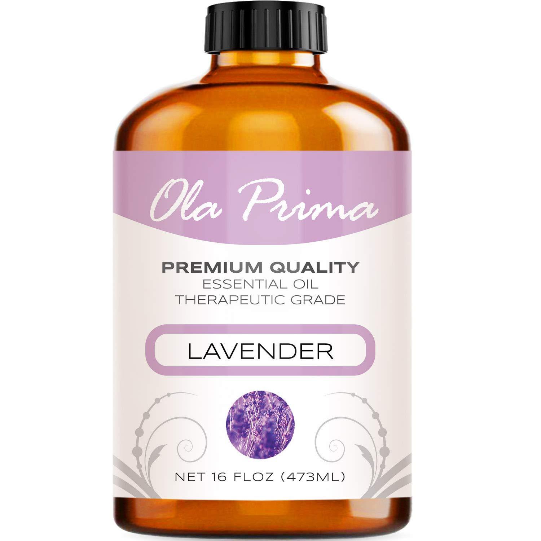 Ola Prima 16oz - Premium Quality Lavender Essential Oil (16 Ounce Bottle) Therapeutic Grade Lavender Oil by Ola Prima