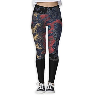A Fight Bear Women's Compression Pants Sports Leggings Tights Baselayer Trousers For Yoga&Fitness