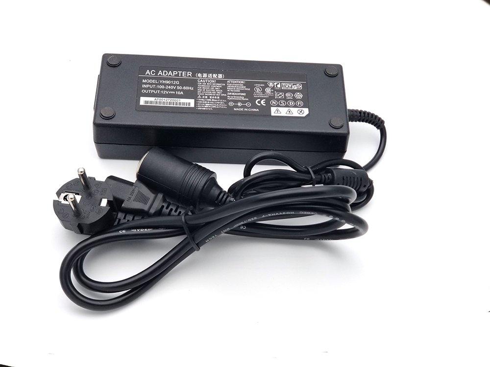 Conforme agli Standard UE Presa Accendisigari JRing 220V 240V AC a 12V DC//10A Alimentazione Trasformatore Convertitore Convertitore di Tensione