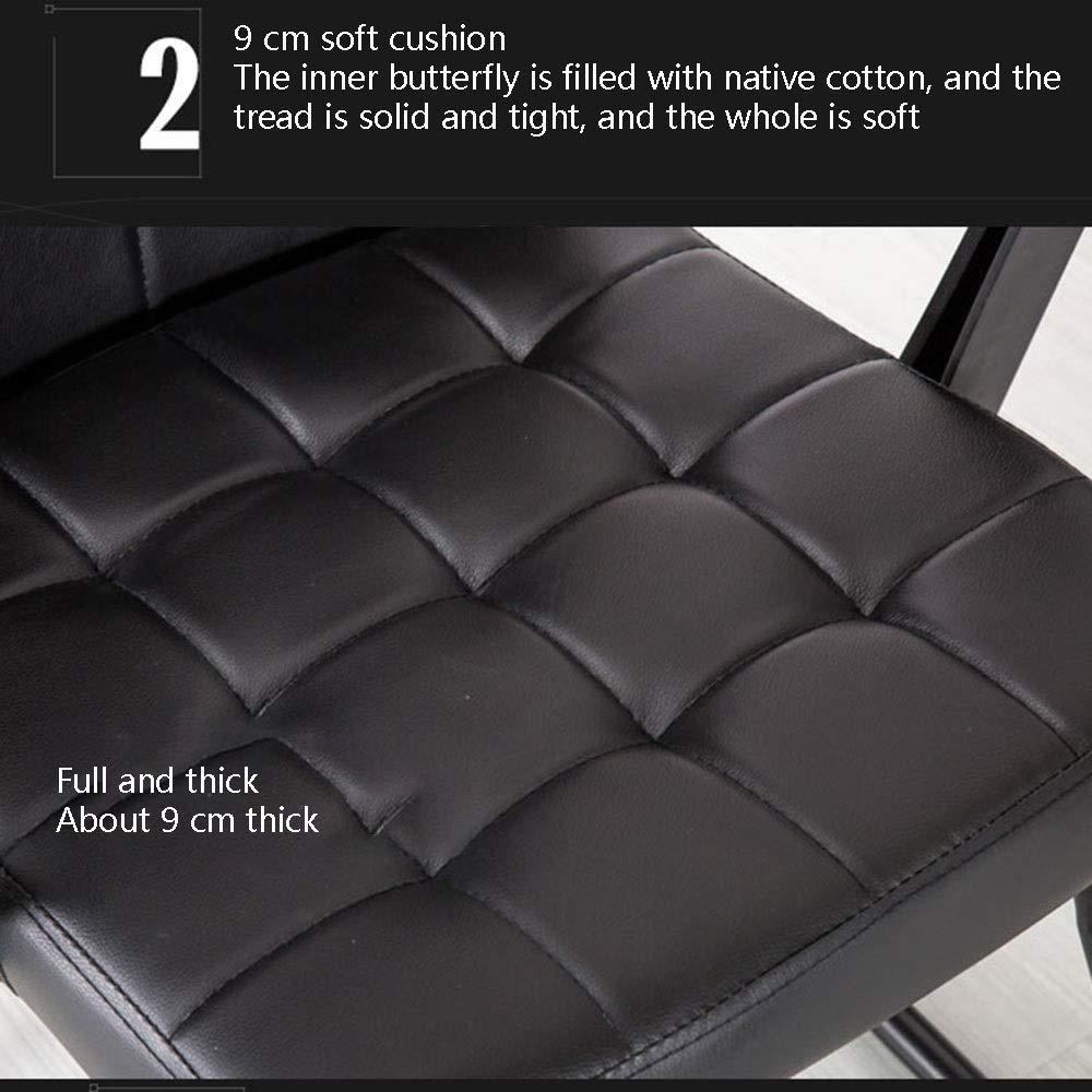 JIEER-C stol datorstol hög rygg tyg spelstol rosett fot ergonomisk kontor dator stol flanell tyg verkställande dator stol för arbetsrum mötesrum, brun svart