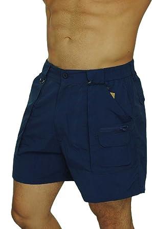 c4e97fd5b0f3f UZZI Men's Basic Classic Shorts w/Side Pocket Cargo by Navy (Medium ...