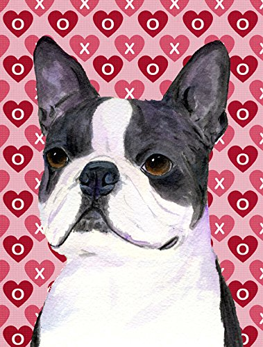 Caroline's Treasures SS4516CHF Boston Terrier Hearts Love...