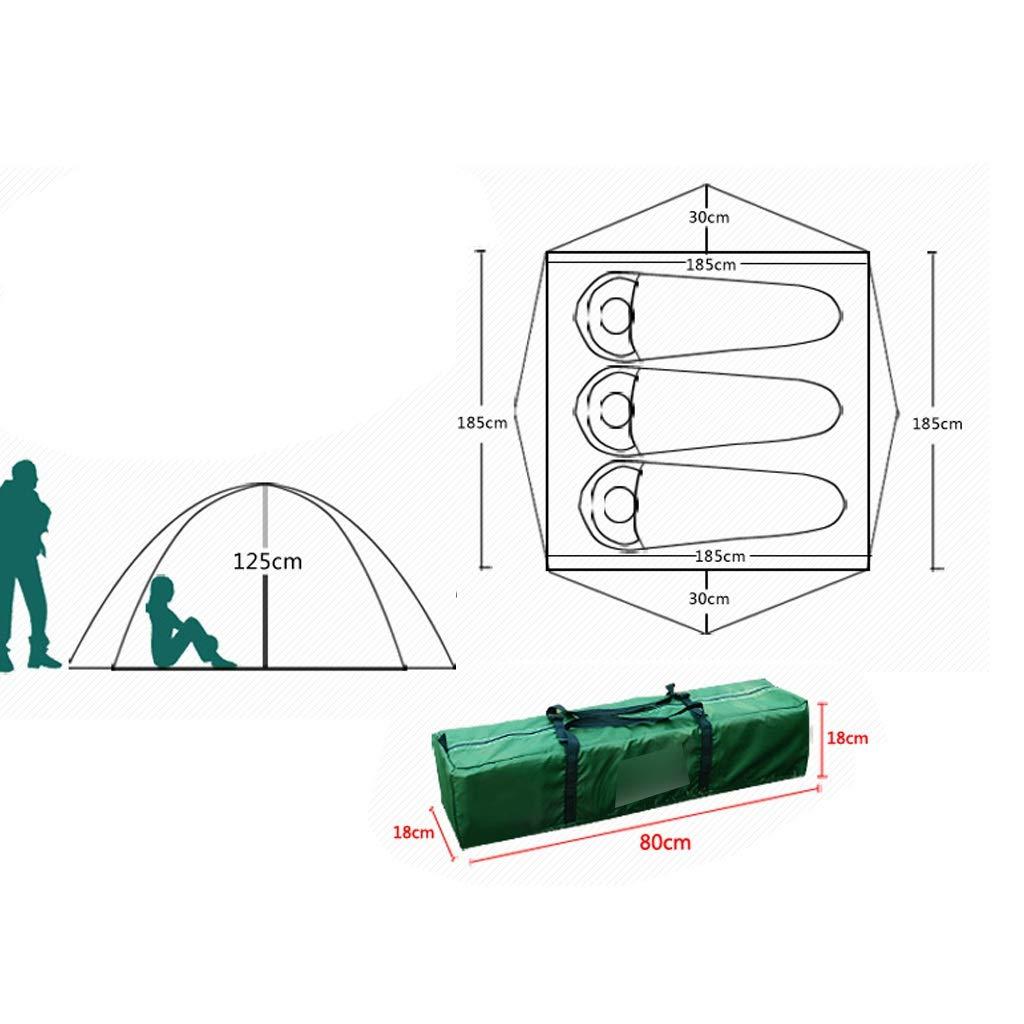 YaNanHome Zelt im Freien Zelt Automatische hydraulische Geschwindigkeit öffnen Zelt Wildes 2-3 Personen stark regensicher Zelt Wildes Zelt Camping Zelt (Farbe   Blau, Größe   185  185  125cm) 112da3