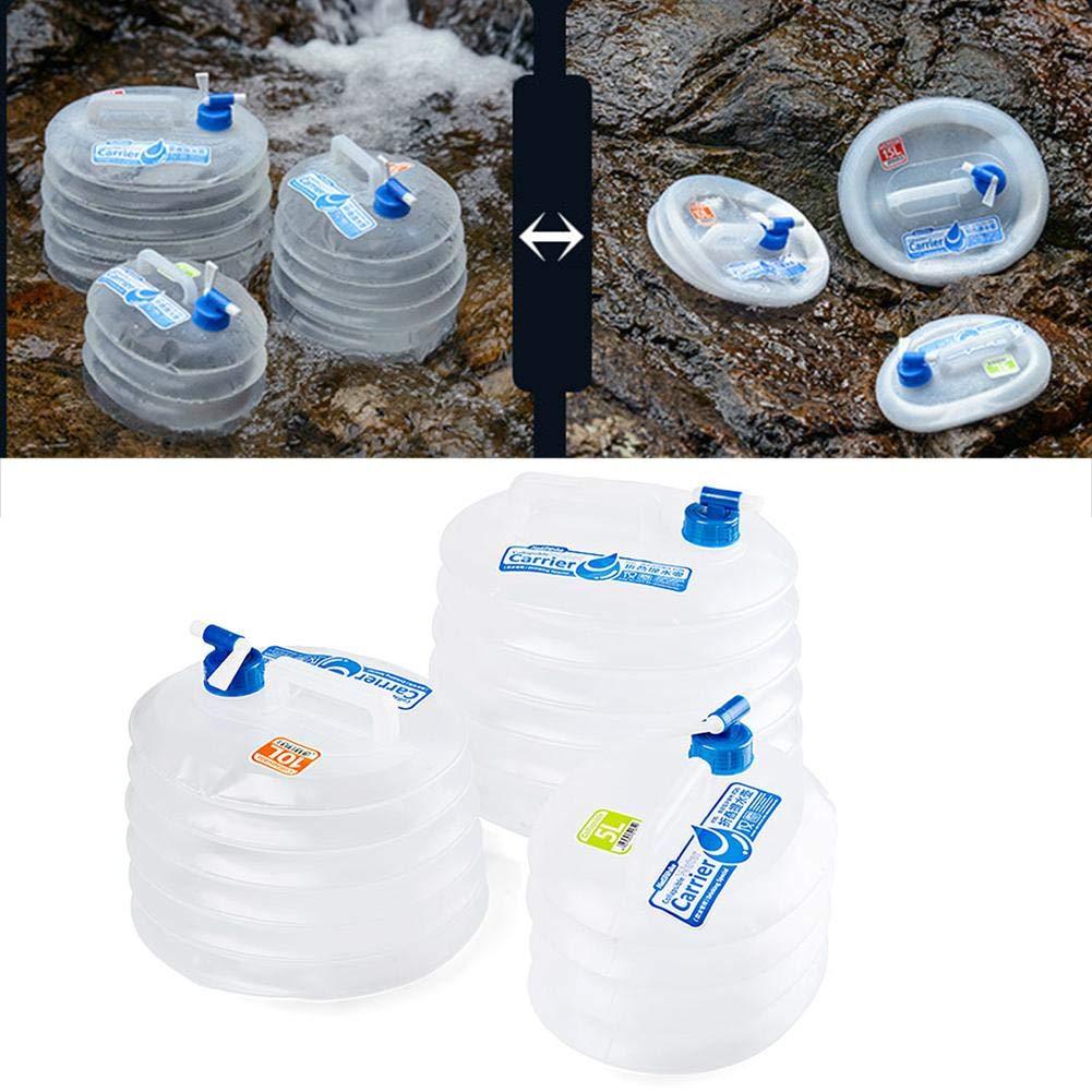 332 Page ANN Camping Agua Bidón Plegable Agua Potable dispensador de Agua portátil con Fijo Mont iertem Purgador/Agua caño para Auto, al Aire Libre, ...
