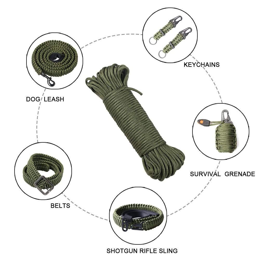 バンドルロープ、ナイロンロープ多目的ロープ物干しロープクリーニングライン牽引ロープアウトドアクライミングキャンプガーデン傘ロープオリーブグリーン10m 20m 50m 100m (Color : 10mm, Size : 100m) 10mm 100m