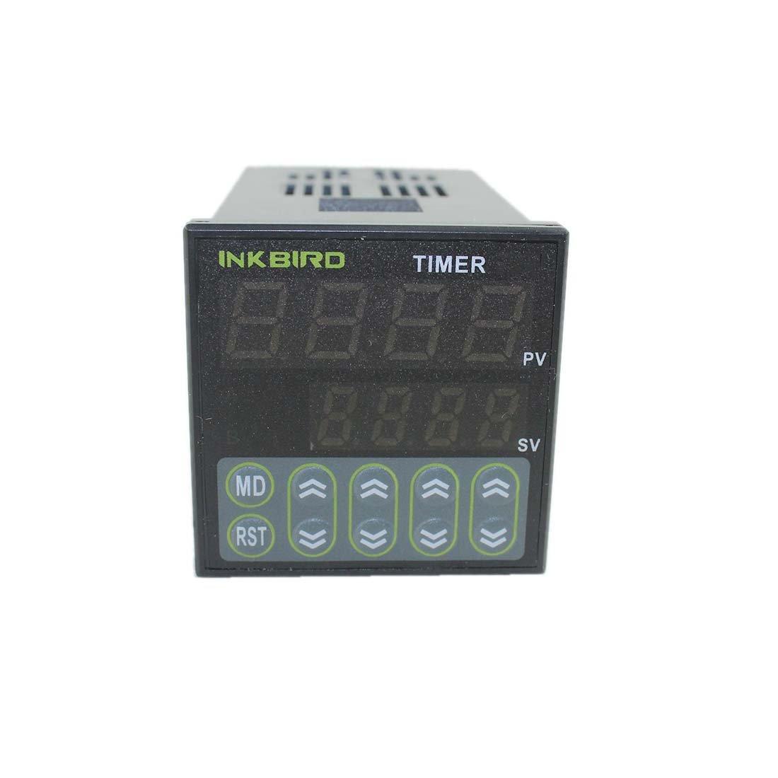 Zeitsteuerung 110-220V IDT-E2RH Inkbird Digitale Twin Relais Timer Schalter Zeitschalter Zeitschaltuhr Ausl/öser Relaisschalter