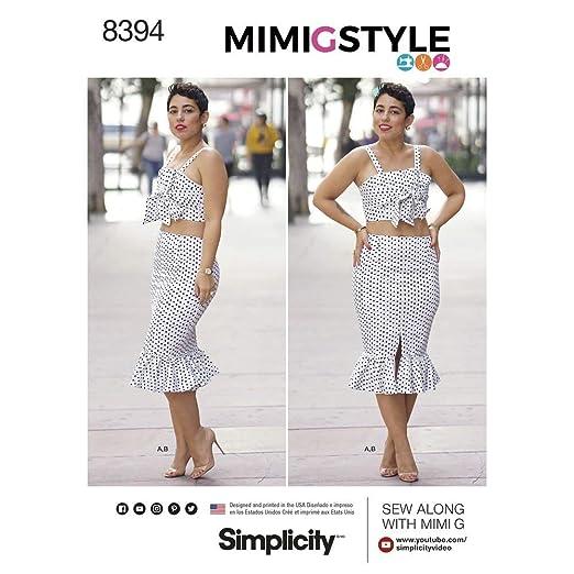 Simplicity 8394 de Las Mujeres Top y Falda patrón de Costura ...