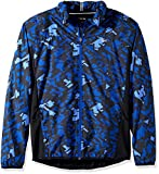 Lacoste Men's Performance Ripstop Print Jacket, BH2070-51, France/Black-Fluo Green, Large