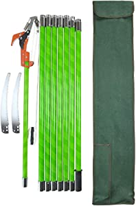 HiHydro 26 Foot Tree Trimmer Pole Manual Pruner Cutter Set Garden Tools Loppers Hand Pole Saws Pole Saws for Tree Trimming with Extension