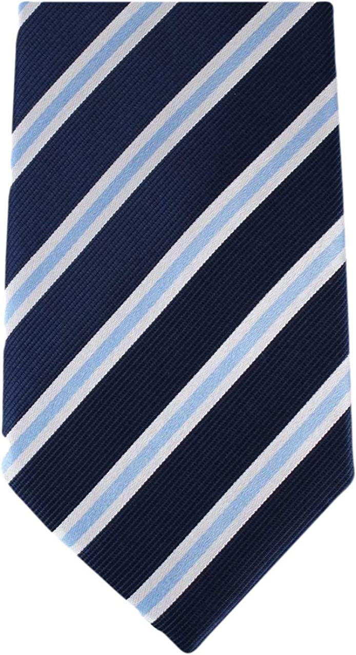 David Van Hagen Mens Regimental Striped Tie Navy//Red//White