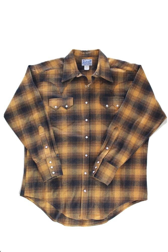 Rockmount Plaid Flannel Western Shirt Toast 647-T-Brown-L