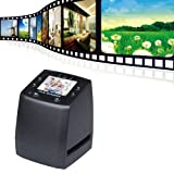 Film Scanner Converts 35mm Negatives & Slides To Digital JPEGs Using Built-In Software Interpolation, USB 2.4 Inch LCD Digital Film Scanner 35mm Negative Film and Slide Scanner/Converter