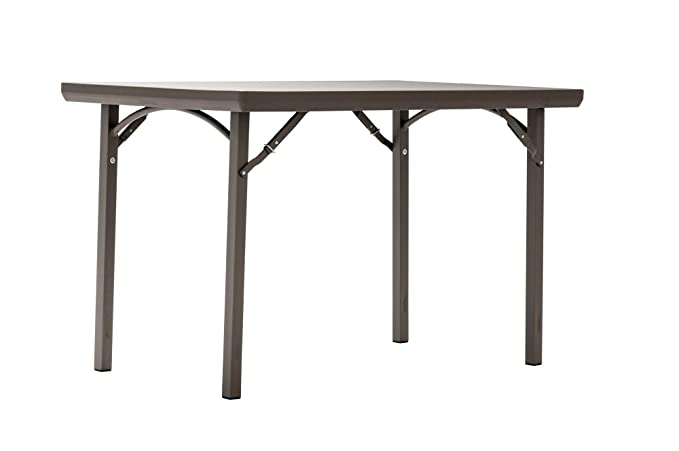 """ZOWN Premium Commercial 48"""" (4 ft) Blow Mold Banquet Folding Table, Brown"""