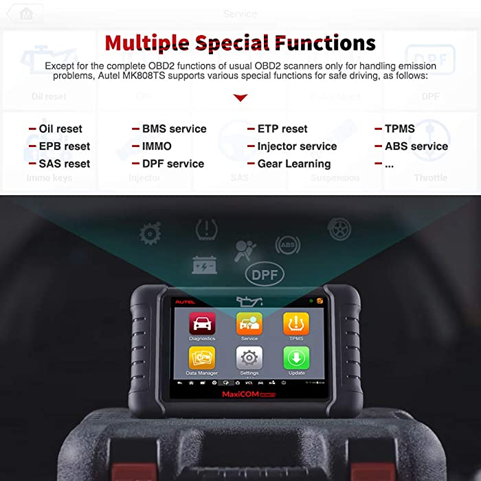 Autel MK808TS is one of the best OBD2 scanners due to the features it offers.