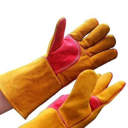 Soldadores guantelete Soldadura multifuncional de cuero Guantes de soldadura para MIG TIG ARC MMA Calor Resistente