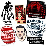 Automotive : DAFT Stranger and Things Ultimate Stocking Stuffer Gift Sticker Pack (14 Stickers)