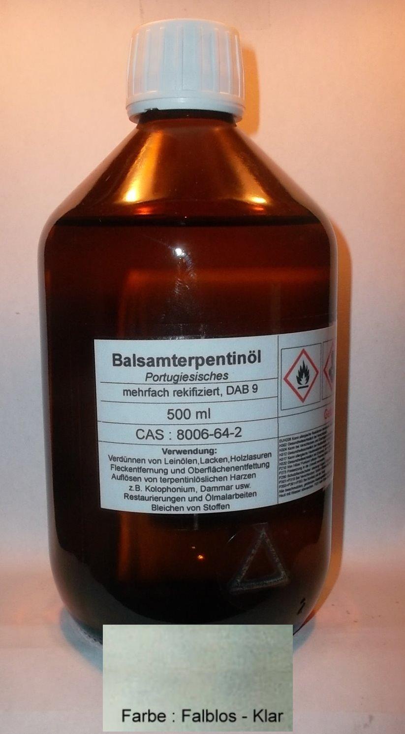 500 ml alta calidad Portugal sisches Bálsamo Trementina DAB 9, incolora, varias rektifiziert: Amazon.es: Industria, empresas y ciencia