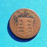 1796 DE German States Sachsen-Weimar-Eisenach Carl August 2 Pfennige Coin Very Fine Detials