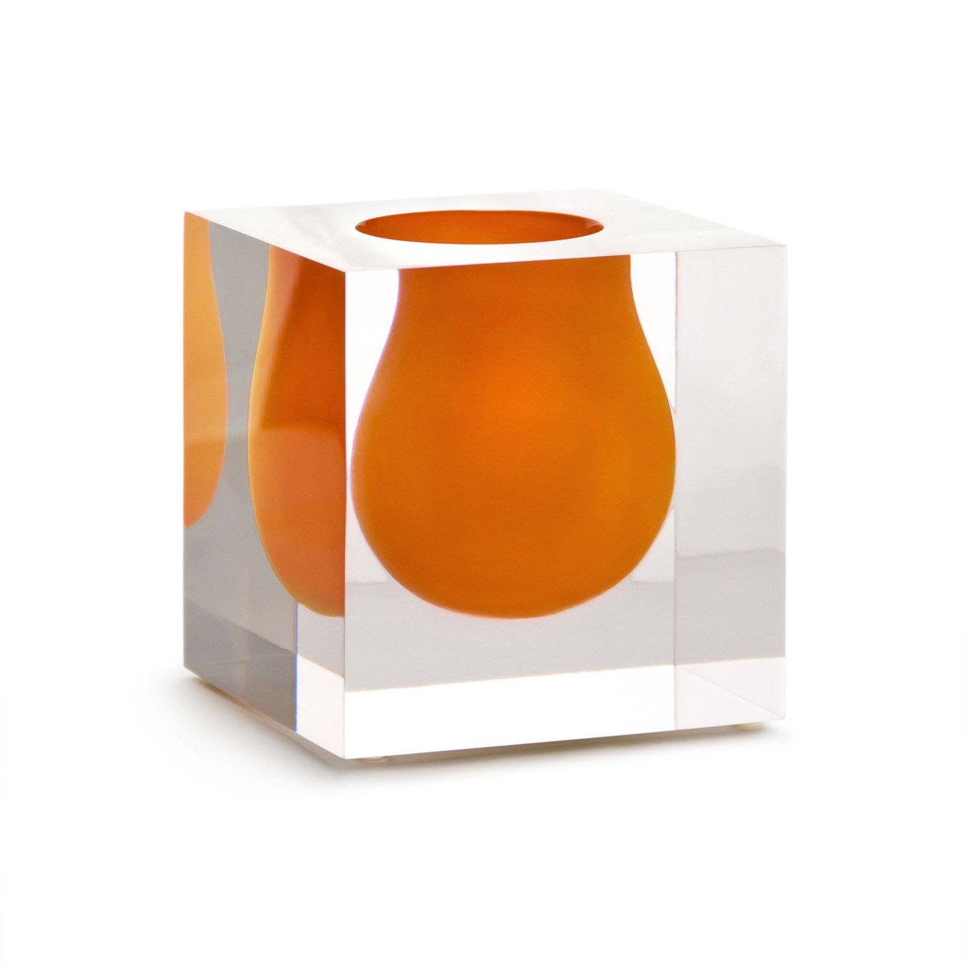 "Jonathan Adler 4.25"" Bel Air Mini Scoop Vase -Orange"