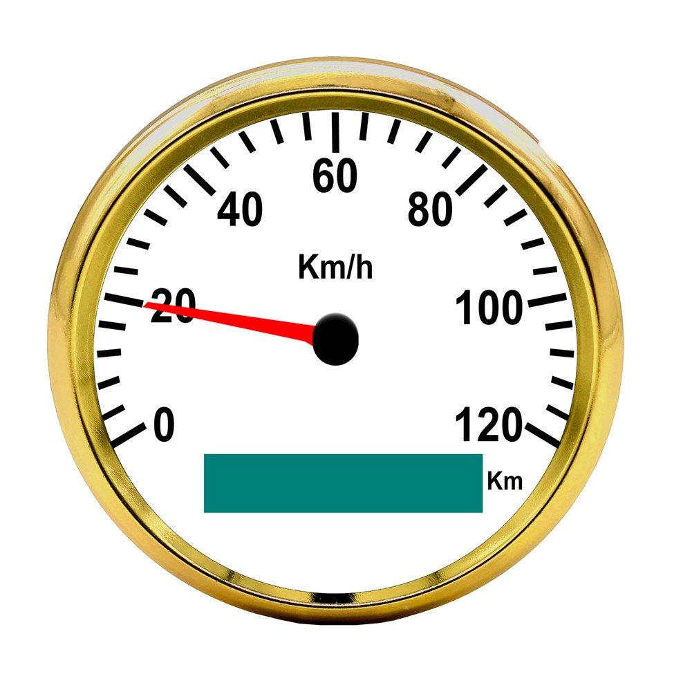 Autool 85 mm GPS velocí metro impermeable inoxidable calibre 120 km/h velocidad para coche camió n 12 V 24 V