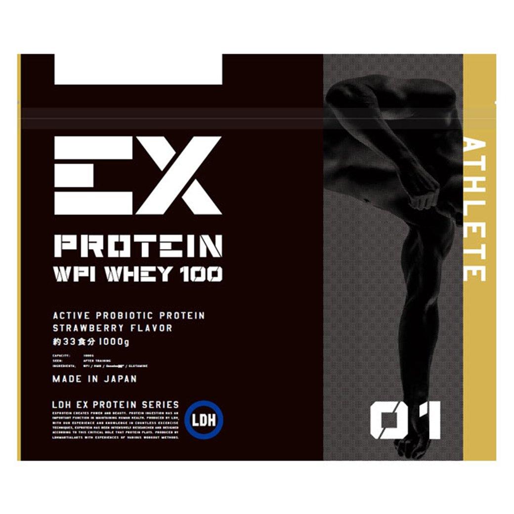 EX- ATHLETE WPC ホエイプロテイン ストロベリー風味 1kg LDH B07BS5JZSM