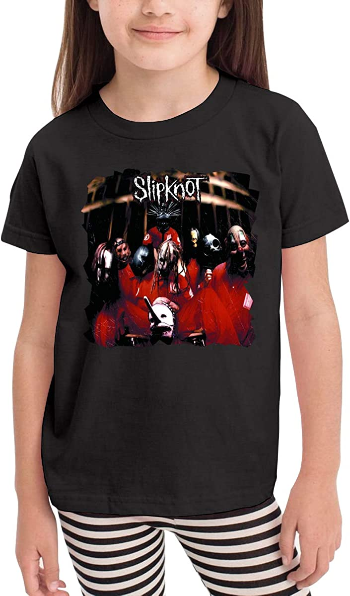 NancyA Slipknot Childrens T-Shirt for Girls /& Boys Black