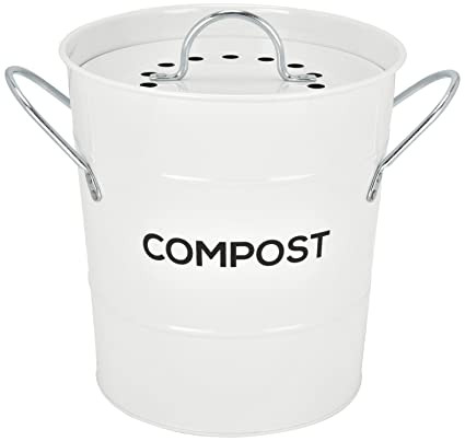 INDOOR KITCHEN COMPOST BIN By Spigo, Great For Food Scraps, Includes  Charcoal Filter For