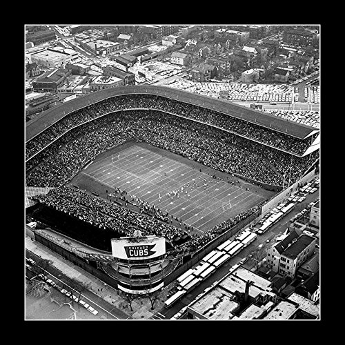 (8 x 10 All Wood Framed Photo Wrigley Field, Chicago Cubs Ballpark 1963 Chicago Bears)