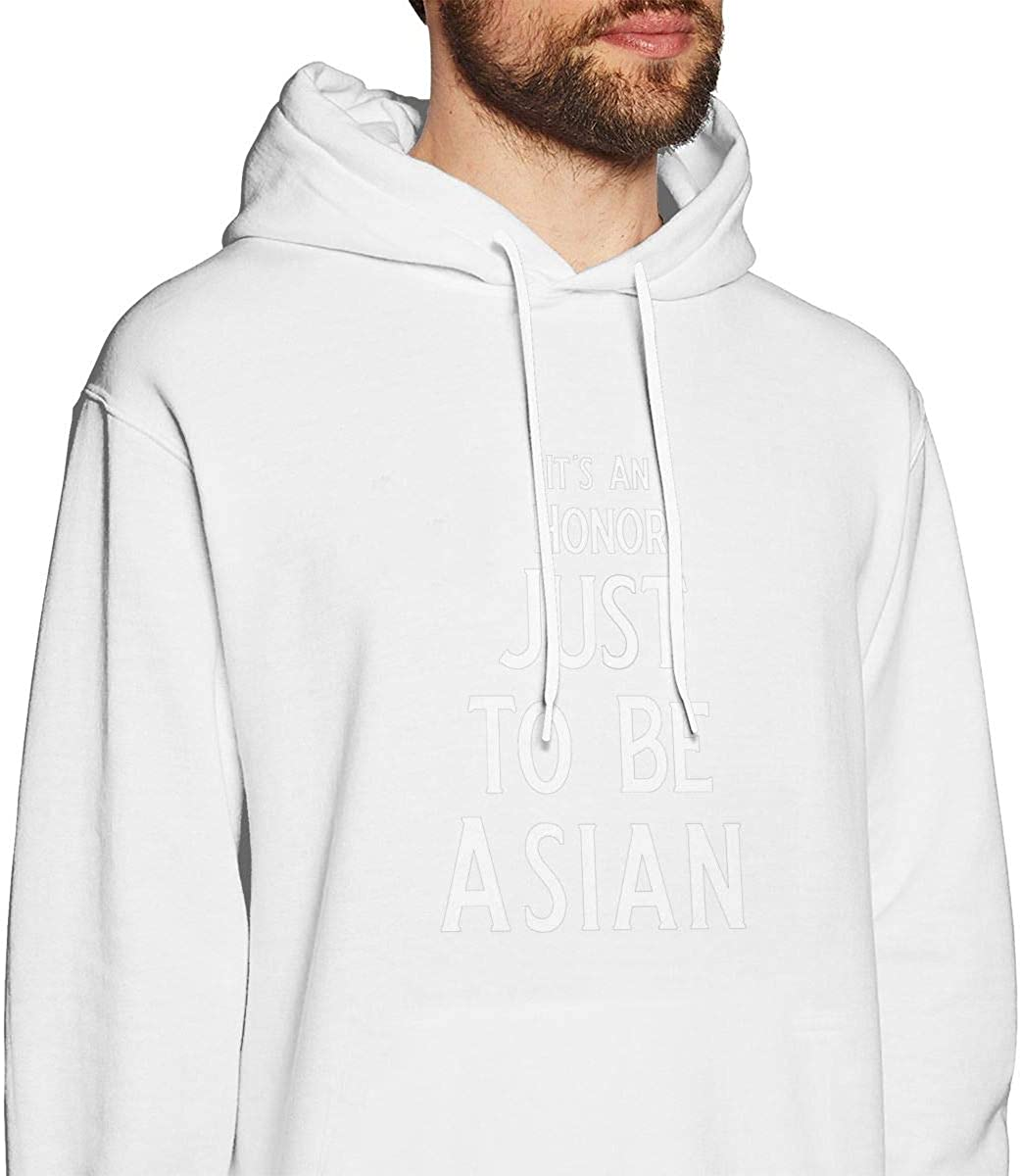 Its an Honor Just to Be Asian Mens Hooded Sweatshirt Theme Printed Fashion Hoodie