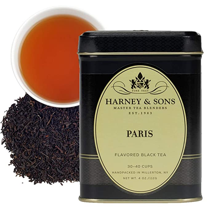 Amazon.com : Harney & Sons Flavored Black Tea, Paris, 4 Ounce : Black Teas : Grocery & Gourmet Food