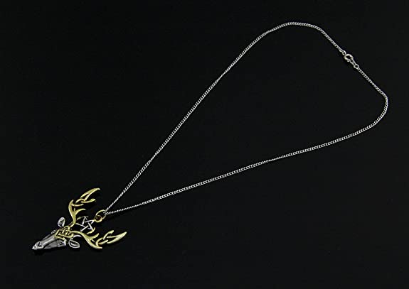Beltane Stag Pendant For Fertile Energy Pagan//Wiccan. Silver /& Goldtone