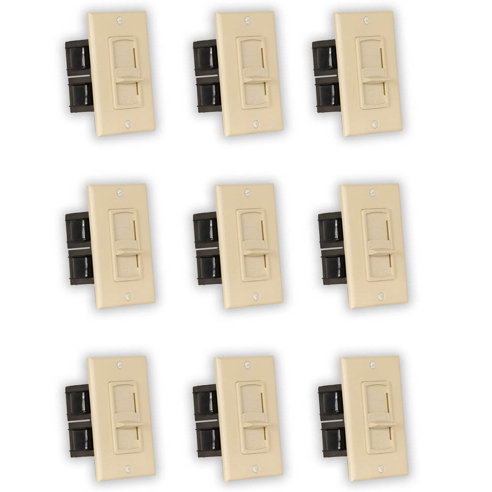 Theater Solutions TSVCS-I Indoor Speaker Volume Controls Ivory Slide Audio Switches 9 Piece Pack by Theater Solutions