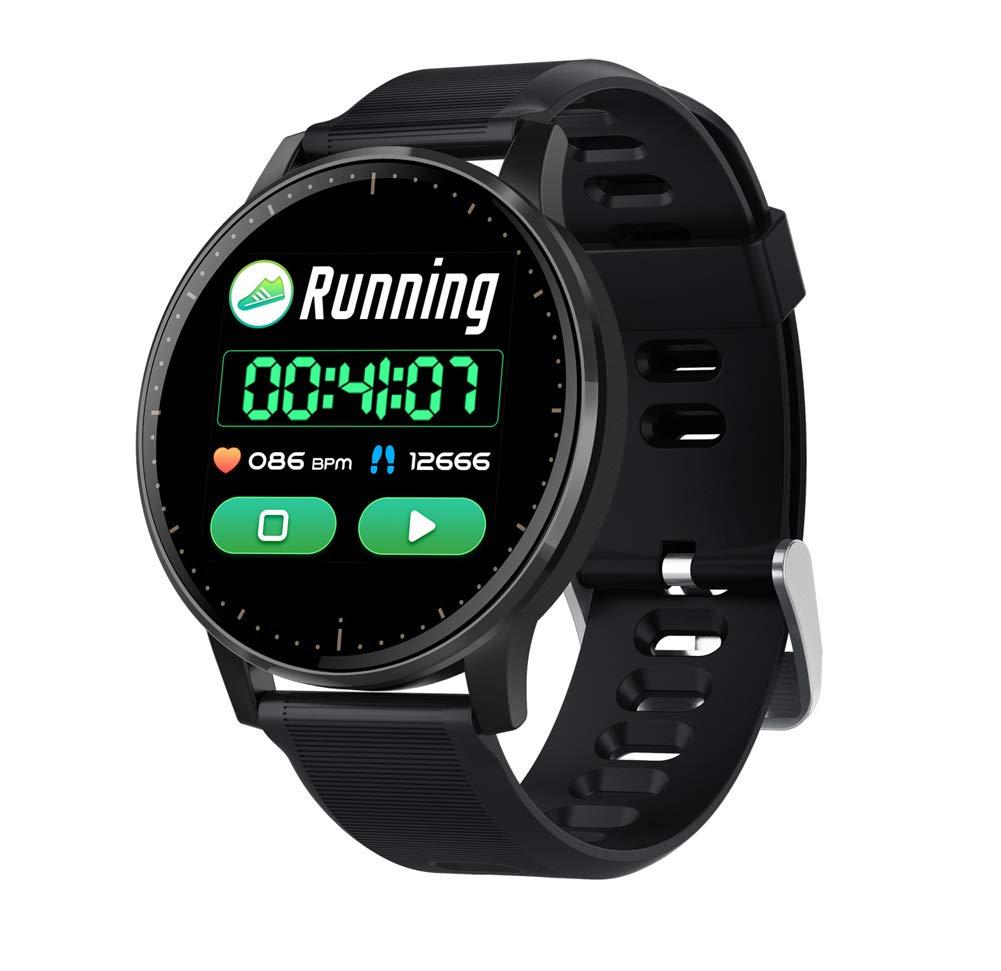 YANGYA Fitness Tracking Smart Watch with Sleep Monitor, Pedometer, Calorie Ip67 Waterproof, for Android iOS Phone-Black by YANGYA