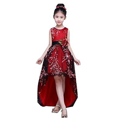Lserver Elegante Vestido Nina De Boda Para Presentacion O