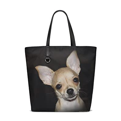 Amazon.com  Animal Dog Chihuahua Yellow Small Fluffy Puppy Adorable Pet  Tote Bag Purse Handbag For Women Girls  Shoes c7125a7c57