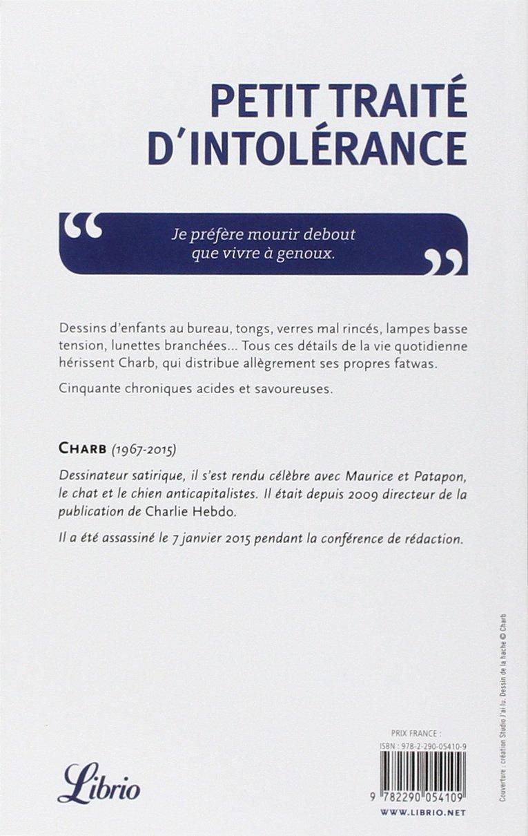 Petit Traite D Intolerance Les Fatwas De Charb French Edition