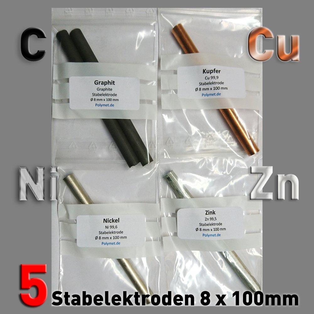 10 cm x 6 mm für Stiftgalvanik Graphit-Stab-Anode // Elektrode Tampongalvanik
