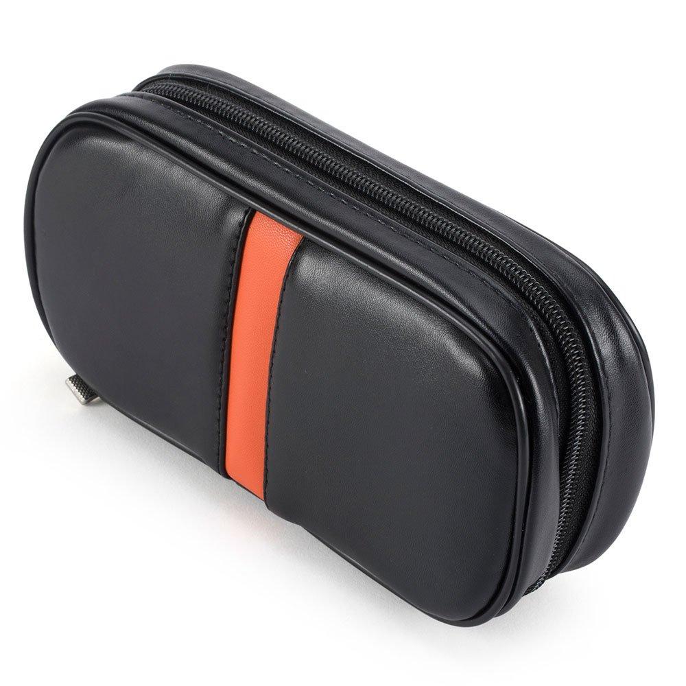 Ylyycc fashion leather 2 pipe tobacco pouch bag black