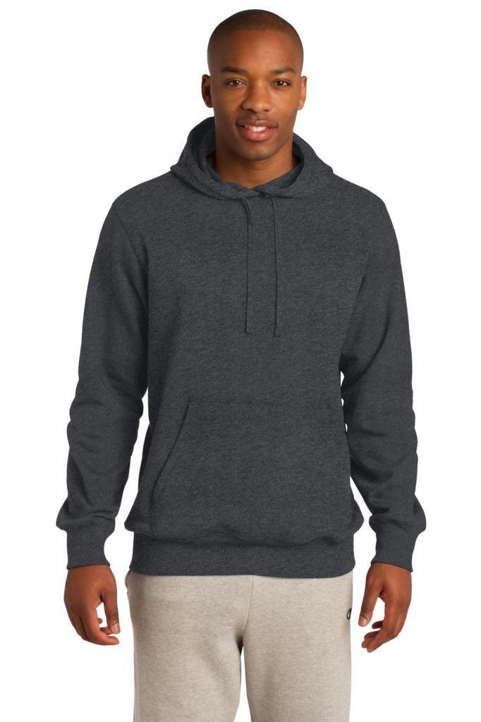 Sport-Tek Men's Tall Pullover Hooded Sweatshirt 2XLT Graphite Heather by Sport-Tek