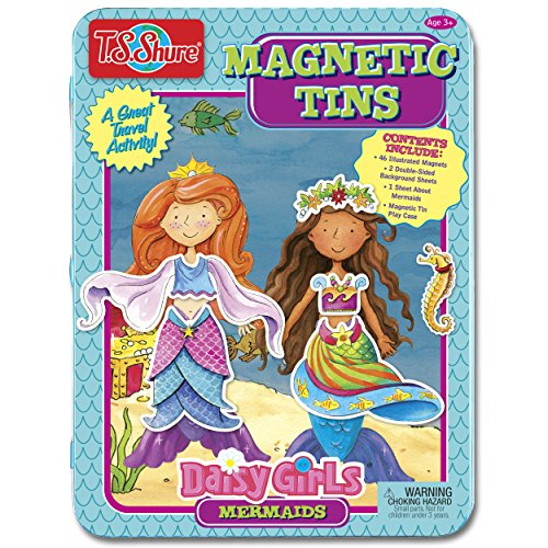T.S. Shure Daisy Girls Mermaids Dress-Ups Magnetic Tin Playset ()