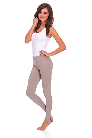 fa7b78045 FUTURO FASHION Womens Opaque Stirrup Leggings Thermal Thights LS   Amazon.co.uk  Clothing