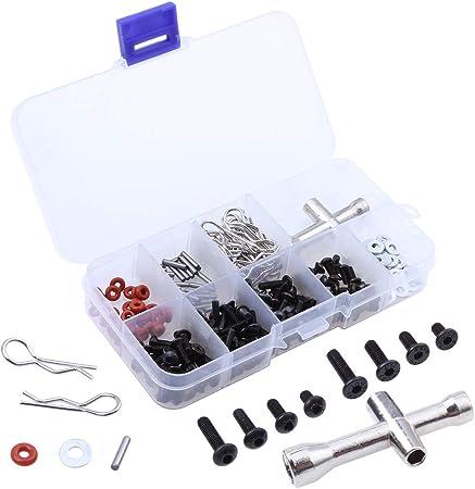 Rebuild Kit Clips Gasket etc 62 piece set Bolts RC Car Assorted Screws