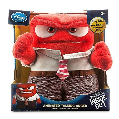 Disney Store Deluxe Anger Animated Talking Doll Plush   Inside Out 9 H