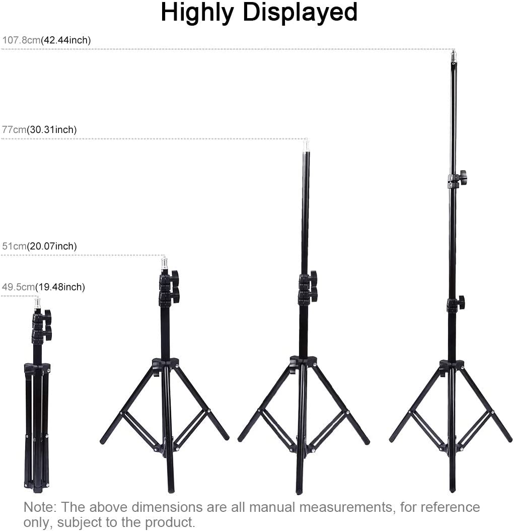 CHENZHIQIANG Camera Accessories Wholesales 1.1m Height Tripod Mount Holder for Vlogging Video Light Live Broadcast Kits