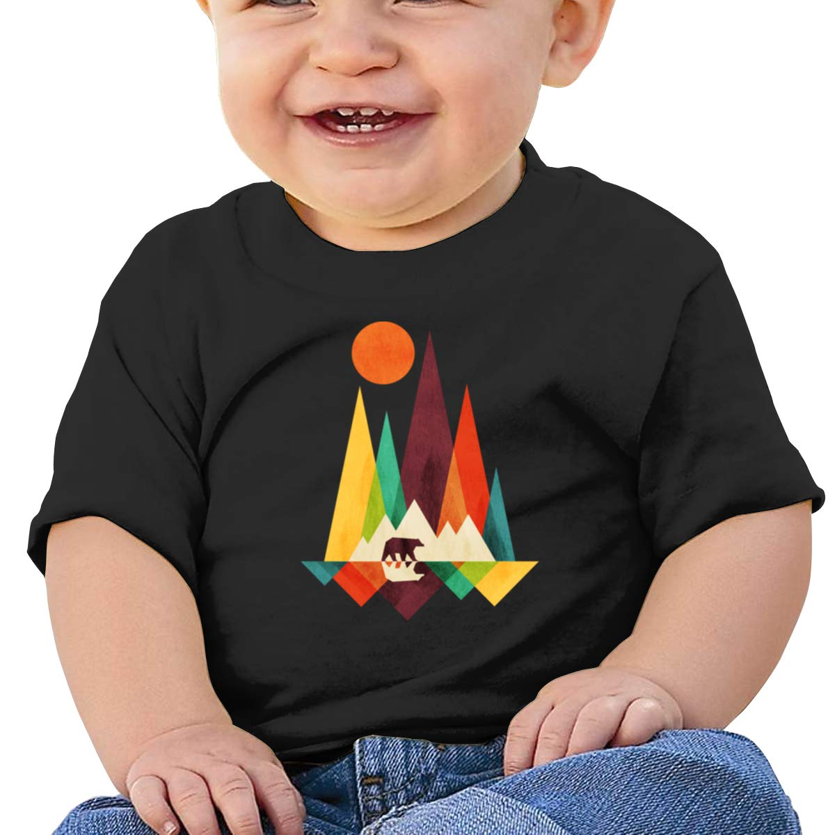 Mountain Bear Sun Short-Sleeve Shirts Baby Boy